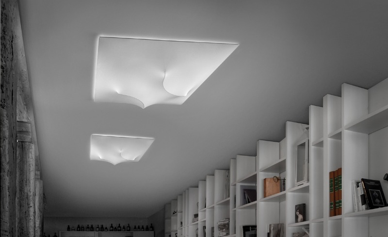 Plafoniere Moderne In Tessuto : In out soffitto morosini